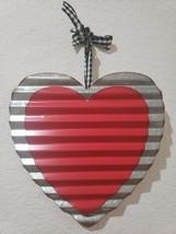 "Valentines Day RED Metal Heart Hanging Sign Door Home Decor 12"" x 11.75"" - $17.99"