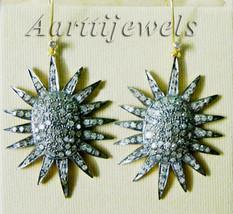Victorian 3.28ct Rose Cut Diamond Designer Wedding Earrings Christmas Ho... - $705.69
