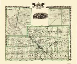 Kankakee Illinois Landowner - Warner 1876 - 23 x 27.44 - $36.95+