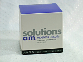 Avon Solutions AM NIGHT Ageless Results Cream 1.7 oz. NEW Old Stock DISC... - $14.09