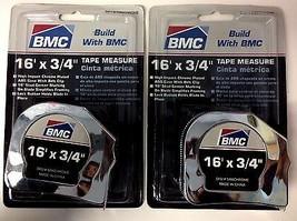 """BMC S166CHROME Tape Measure - 3/4"""" x 16'  2PCS - $4.46"""
