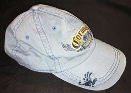 "Corona Mexico Hat Cap Relaxed Cotton Light Blue ""La Cerveza Mad Fina"" - $7.19"
