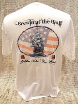 St. Simons Island~Brewin At The Bluff Golden Isles Tea Party T-Shirt Sz Xl New - $9.48