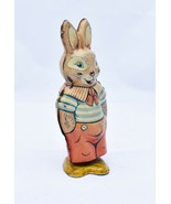 Vintage Walking Rabbit J. Chein & Co. Tin Wind Up Toy Lithograph Antique... - $25.00