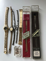 Vtg Lot of Watch Bands Parts Watches Junk Drawer Lot Voguestrap Speidel - $14.84