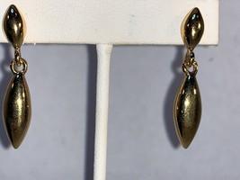Vintage MONET Gold Tone Drop Dangle Pierced Earrings - $20.00