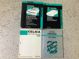 1990 toyota celica service repair workshop manual set with ewd + supp + oem - $74.30