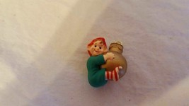 "HALLMARK KEEPSAKE ORNAMENT MINIATURE LOAD OF CHEER DATED 1989 XMAS .75"" ... - $4.94"