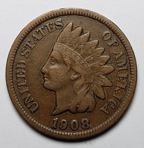1908S Indian Head Penny / Cent Coin Lot# 818-50
