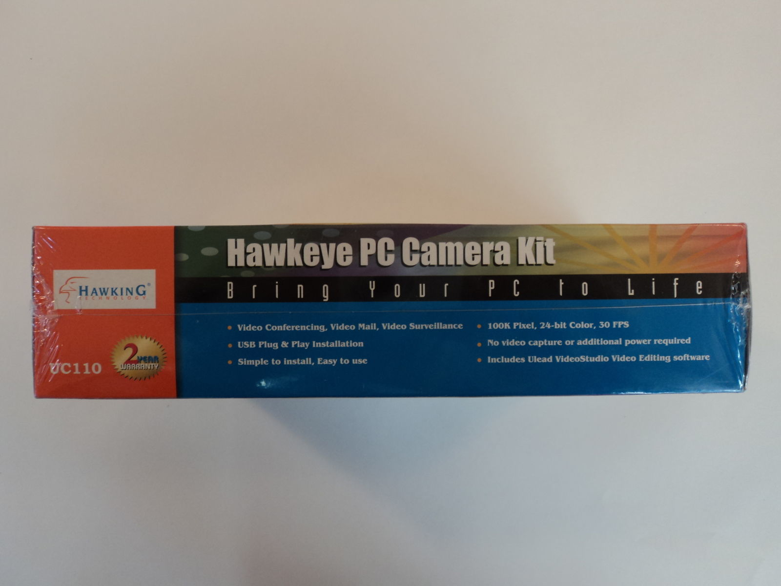 Hawking Technology Hawkeye PC Camera Kit Webcam 100K Pixel 24 Bit Color UC110