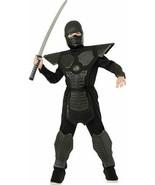 Ninja Warriors Black Dragon 8 Piece Halloween Costume Rubie's Large NWT! - $17.50
