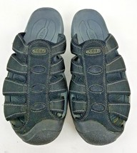 Keen Black Nylon Slip On Water Shoes Sandals Size 9 - $28.50