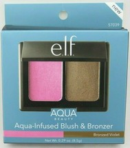 E.L.F.  Aqua Beauty Aqua-Infused Blush & Bronzer - Bronzed Violet 0.29 oz - $10.79
