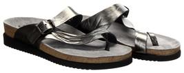 Mephisto Helen Water-Repellent Nubuck Slip-on Sandals Silver Sz 39 New - $119.59