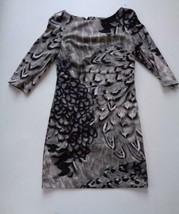 NWT Jessica Simpson Tan Black Gray Printed Cocktail Dress Sz 14 Org $118.00 - $53.19
