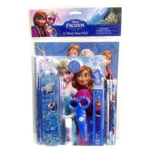 Disney Frozen 11pc Stationary Set Character Pencil,Pen,Note Pad,Ruler,Eraser-New - $29.69