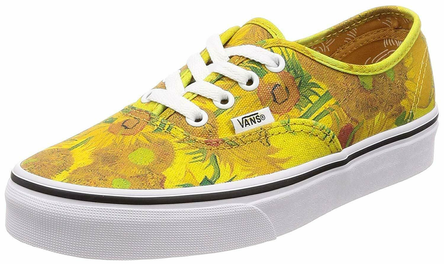 Vans Authentic Vincent Gogh Sunflowers Shoes MENS 3.5 WOMENS 5 new nwt