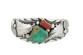 Vintage Sterling Silver Les Craig Navajo Native American Cuff Bracelet - $389.95