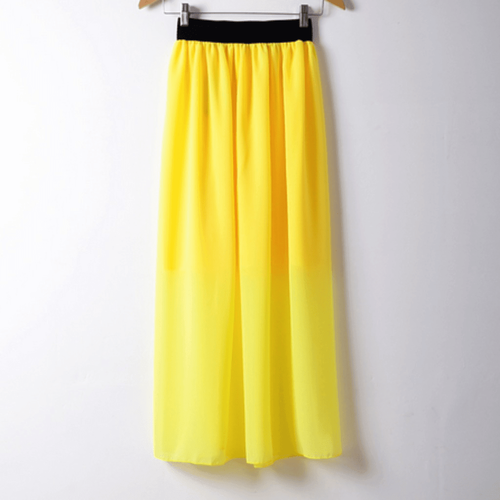 Sexy Bohemian Pleated Chiffon Long Skirt
