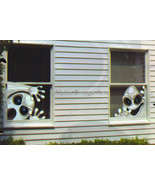 Set of 2 Creepy Ghosts Window Mural Reusable Halloween Decor - $4.94