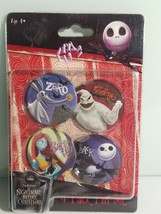 Nightmare Before Christmas Pin Button Set of 4 Tim Burton - $13.06