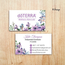 Doterra Business Card, Doterra Cards, Watercolor Doterra Business Cards,... - $9.99