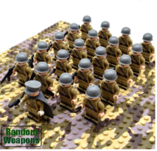 21pcs WW2 Army Military Building Blocks Soviet troops Soldiers Weapons B... - $25.99