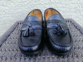 Allen Edmonds Maxfield Mens Black Dress Loafers Size 7 E Made In USA  - $39.59