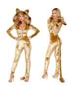 Halloween Adult Animal Cosplay Catwoman Costumes Catsuit Jumpsuit - $55.81