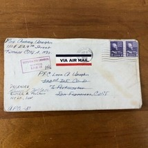 WWII Letter Returned Unopened KIA Deceased Army Soldier Mail 1944 Cover ... - $59.39