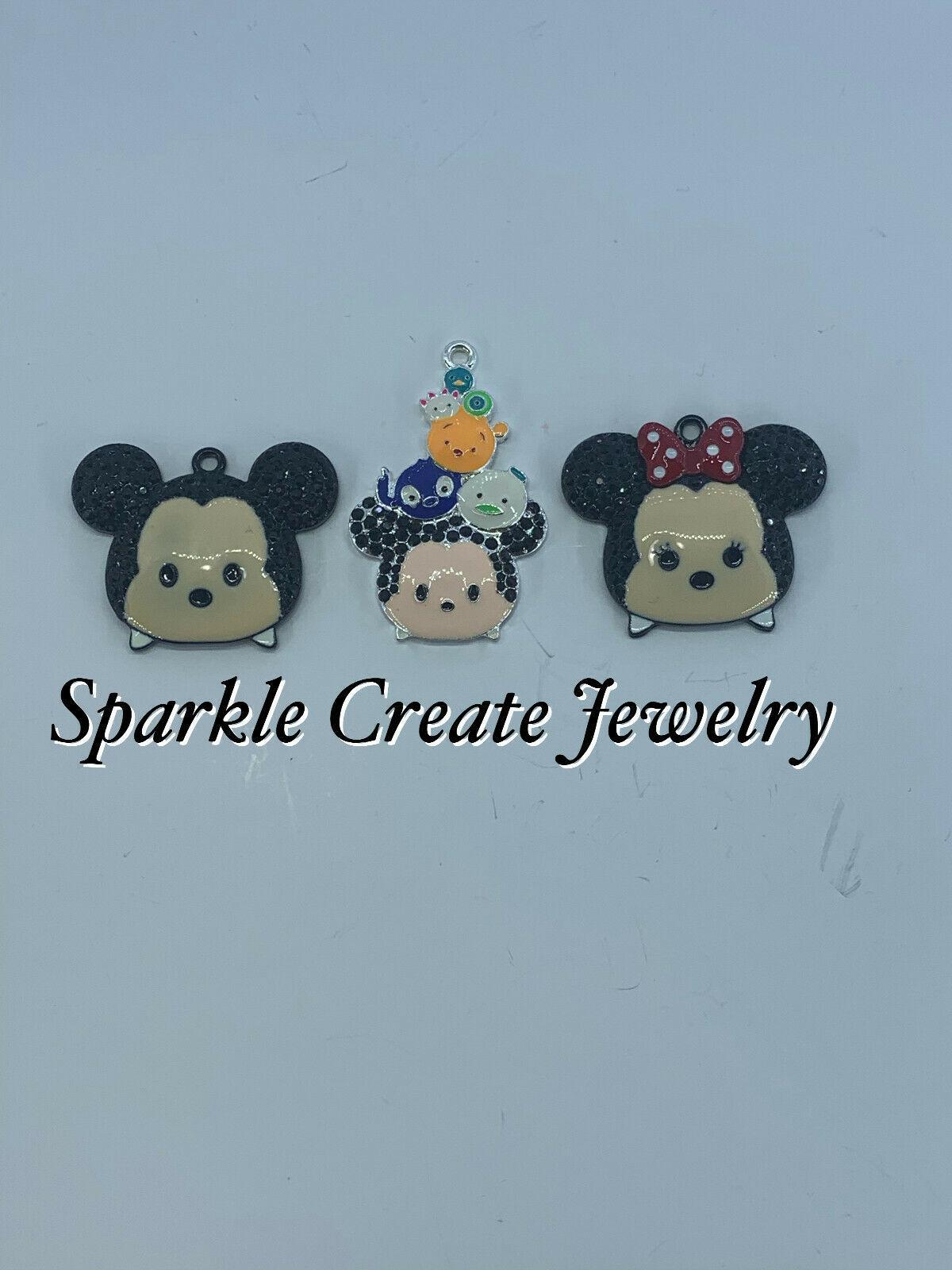 Tsum Tsum/Mickey/Minnie Mouse Rhinestone Pendant