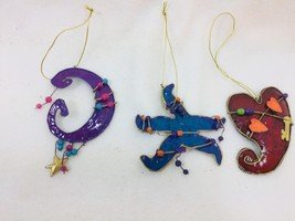Encore Group Metal Christmas Ornaments Star Heart Beaded 25659 - $9.64