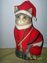 "christmas kitty cat Santa Paws DOORSTOP weighted bottom dorothy dear 16""... - $74.25"