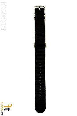 22mm per Luminox Nylon Ondulata Nero Orologio con Cinturino 4 Acciaio Inox