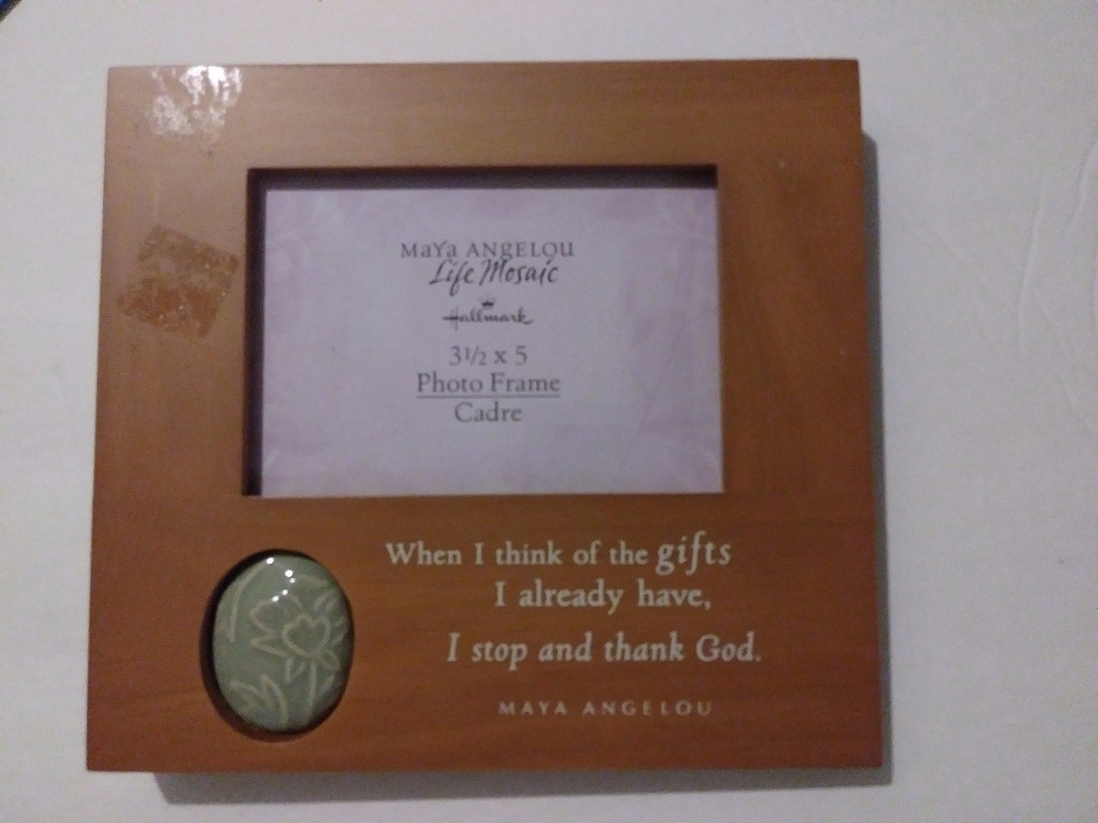 "Primary image for Maya Angelou Life Mosaic Hallmark 3 1/2"" X 5"" Photo Frame Quote and Carved Stone"