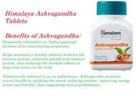Himalaya Herbal Ashvagandha Ashwagandha Rejuvenates Mind & Body 5X60 Tab... - $30.04