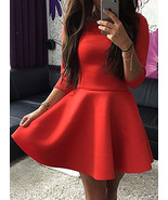 Skater Dress - Hoop Skirt / Long Sleeves / Princess Seams - $23.00