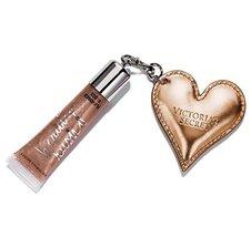 Victoria's Secret Beauty Rush Lip Gloss in Haute Cocoa with Heart Keycha... - $19.98