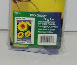 Two Group Flags 04054 Sunflowers Welcome Flag 100 Percent All Weather Nylon image 3