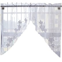 George Jimmy Sweet Leaf Embroidered Curtain Kitchen Curtain Coffee Scree... - $26.57