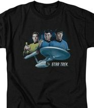 Star Trek Sci-Fi TV series Kirk, Spock  Dr Bones McCoy Graphic tee CBS1325 image 3
