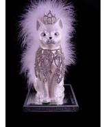 "vintage 13"" cat statue - sexy burlesque diva queen - one of a kind - art... - $95.00"