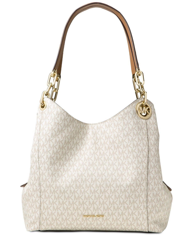 b9a9decea87e 57. 57. Previous. NWT Authentic MICHAEL Kors Fulton Large Signature Hobo  Bag Handbag Vanilla Gold. NWT Authentic MICHAEL ...