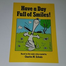 VTG Have A Day Full of Smiles Hallmark PBK Book Charles Schulz Peanuts S... - $29.65