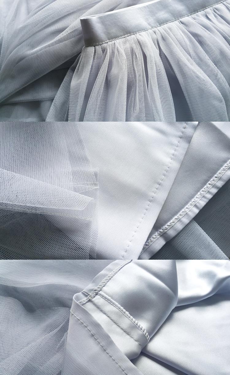 Gray tulle skirt bridesmaid skirt 18