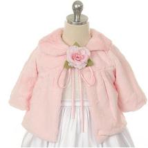 Pink Hi Quality Soft Faux Fur Half Coat for Girls - $33.00