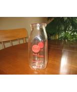 Milk Bottle-Half Pint-Clear- Red Logo-Bancroft Dairy Madison WI- - $11.00