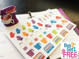 56pcs Small Pet Food Life Planner Stickers for Erin Condren PP018