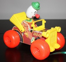 Vintage Fisher Price JALOPY Wood  Clown Pull Toy 724 - $26.99