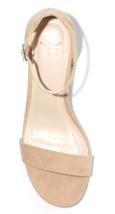 A New Day Women's Taupe Michaela Mid Block Heel Open Toe Sandal Pumps image 3
